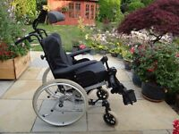 Wheelchair Rea Clematis tilt and space ,manual or self propelled. Very comfortable.