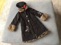 Catimini Girls Black Winter Coat Age 8