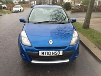 RENAULT CLIO 1.2 2010 WITH Dynamique Tom Tom AND 1 YEAR MOT WITH HISTORY(going cheap for quick sale)