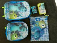 Brand new 'Monsters University' 5 piece luggage set