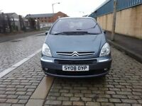 2008 CITREON XSARA PICASSO,FULL YEAR MOT,2 KEYS,FULL SERVICE HISTORY,2 OWNER,DRIVE SPOT ON