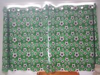 Childrens football bedding and curtains