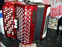hohner 72 bass chromatic accordion lightweight model