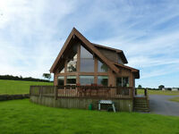 Canadian Western Red Cedar Lodge Central Anglesey near Lake
