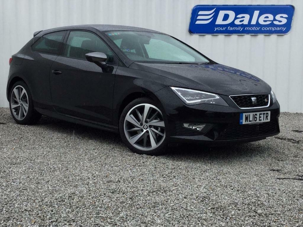 seat leon 2 0 tdi fr titanium 3dr black 2016 in. Black Bedroom Furniture Sets. Home Design Ideas