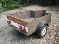Car Trailer, 5 foot by 4 foot wide, overall length 7 foot.