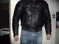 TRIUMPH LEATHER VENTED MOTORCYCLE JACKET