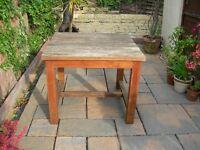 Solid teak garden table (seats 4)