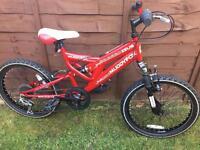 Boys muddy fox bike