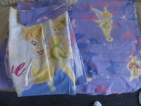 Disneys Tinkerbell, single bed Duvet, pillowcase and pair of curtains