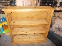 LARGE PITCH PINE BOOKCASE GREAT UP-CYCLE PROJECT FREE LOCAL DELIVERY AVAILABLE 07486933766