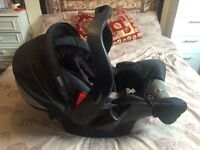 SALE: BEAUTIFUL MINT CONDITION CAR SEAT AND BABY CARRIER