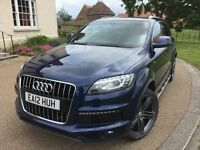 2012 AUDI Q7 3.0 TDI S LINE *FSH, HPI CLR, VGC, GOOD RUNNER, WARRANTY, 7 SEATER, LUXURY AUTO SUV*