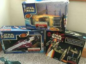 Star wars figures and ships