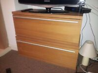 Two Large Drawers. Oak effect. Great Condition.