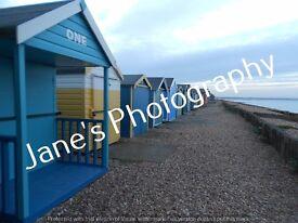 """Beach huts - Hampshire 10"""" x 8"""""""