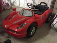 Kids ride on battery car Ferrari style