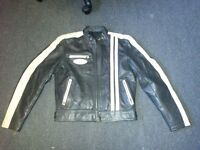 Vintage 60's style leather motorcycle jacket