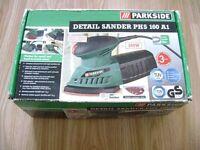 Parkside detail sander in box (wood , paint, varnish)