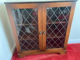 Mahogany glass bookcase / Display cabinet