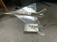 Jet Airplane Areoplane lamp / light. Metal and acrylic. Good quality.