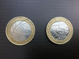 Set of 2 Pound Coins Isambard Kingdom Brunel 2006 x2