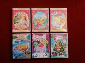 Barbie DVD selection. ALL VGC. 6 seperate items.