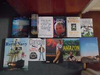 15 Mainly Hardback books (Travel , sports and history)