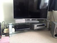Sony TV glass stand