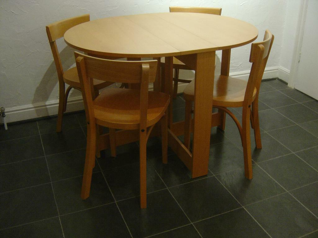gateleg dining table 4 chairs united kingdom gumtree