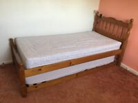 SINGLE DAY BED with 1 New Ikea Memory Foam Mattress.