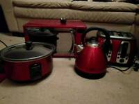 Set of kitchen appliances, microwave, kettle, toaster and slow cooker. All together or separately.