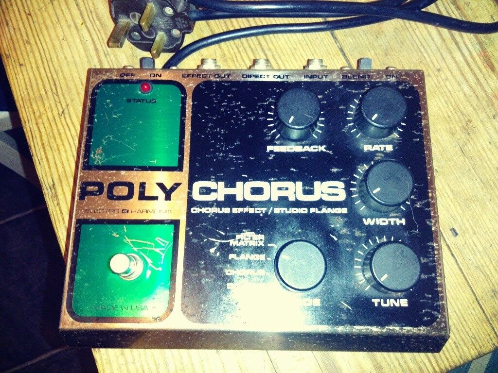 Electro Harmonix Poly Chorus Effects Pedal (Made in USA) (Used by Kurt Cobain)
