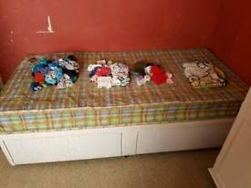 single bed built in draws