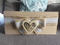 Wedding wooden card box