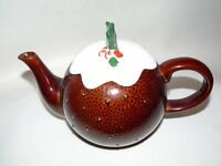 Ornamental TEAPOT of Xmas Pudding, lovely display and collectors item