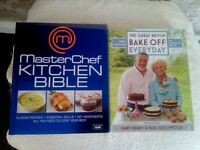 MASTERCHEF/BAKE OFF BOOKS FOR SALE