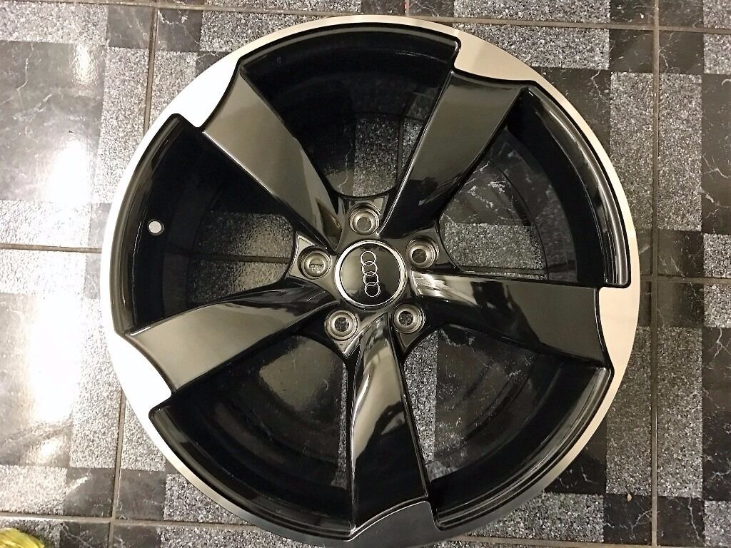 New 18 Quot Inch Audi Rotor Alloy Wheels Black Edition A3 A4