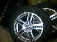 """17"""" Sacci wheels with studded winter tires"""