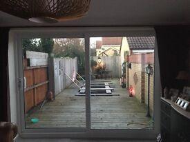 Large sliding patio doors