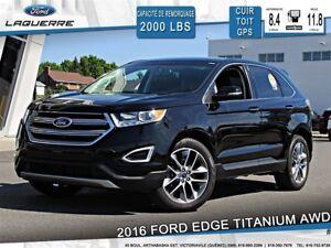 2016 Ford Edge TITANIUM**20''*AWD*CUIR*TOIT*NAVI*CAMERA**