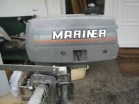 2-Stroke Mariner 2HP Outboard Engine - Recently Serviced