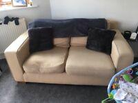 Cream sofa and chair
