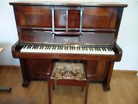 Mabern upright piano, lovely sound and in good condition, needs a loving home – stool included