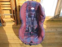 Britax Freeway Baby Car Seat Cherry & user manual. 9 months to 4 years. Immaculate condition