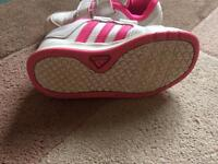 Girls Adidas Trainers. Size 9