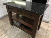 Kitchen Island - Solid Wood & Granite £550 OBO