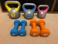 Fitness Equipment - York Kettlebells and Dumbbells