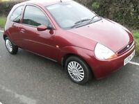 2004 FORD KA STYLE 1.3 ONLY 44000 MILES 1 LADY OWNER FROM NEW NICE CLEAN CAR IDEAL FIRST CAR