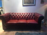 Chesterfield sofa 3 seater Oxblood